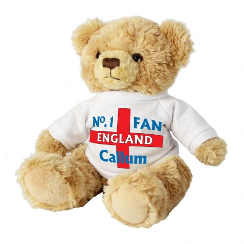 Personalised England Fan Message Bear